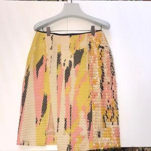 Reed Karloff hand painted asymmetrical skirt